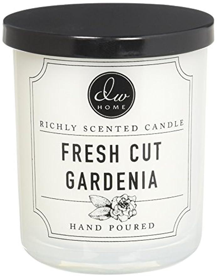 マカダム虐待優しさDWホームFresh Cut Gardenia豊かな香りCandle Small Single Wick 4オンス