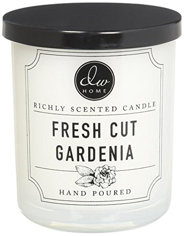 浅い余裕があるベリーDWホームFresh Cut Gardenia豊かな香りCandle Small Single Wick 4オンス