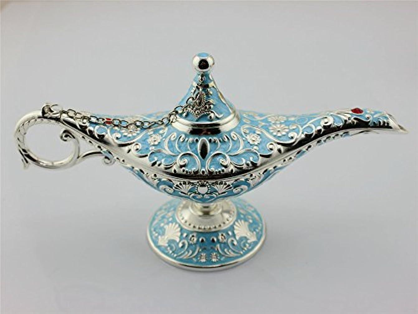 一瞬幸運なことに発行するSY CraftsエナメルメタルAladdin Genie Lamps Incense Burners凡例Aladdin Magic Lamp