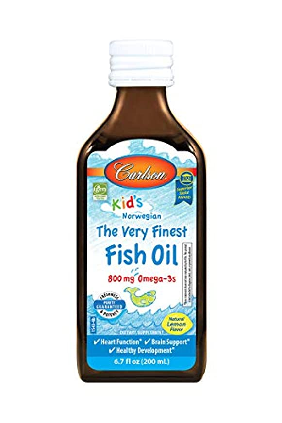 無意味失業者広告主Carlson Labs Carlson for Kids Very Finest Liquid Fish Oil, Lemon, 200ml by Carlson Laboratories
