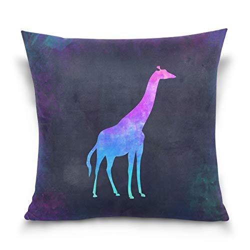 クッションカバー キリン アフリカ パステル 抱き枕カバー 45x45 座布団カバー 部屋飾り 装飾 インテリア