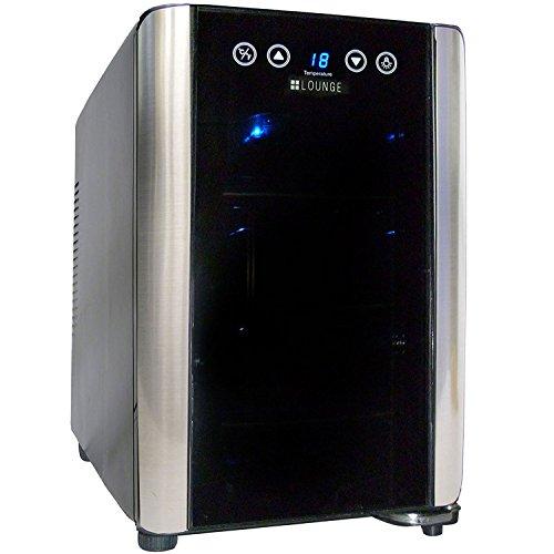 +LOUNGE 6本収納ワインセラー LNE-W306B[ペルチェ式/UVカットガラス/加湿トレー付]