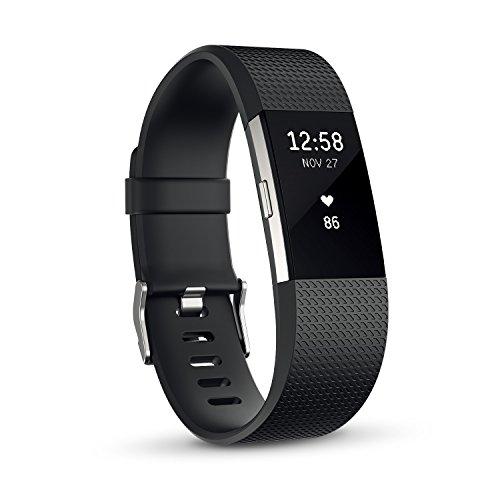 【日本正規代理店品】Fitbit 心拍計 フィットネスリストバンド Charge2 Large Black FB407SBKL-JPN