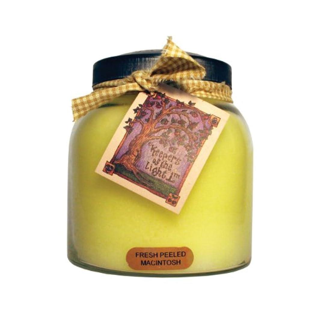自分自身電話路地A Cheerful Giver Fresh Peeled Macintosh Baby Jar Candle 34oz JP57