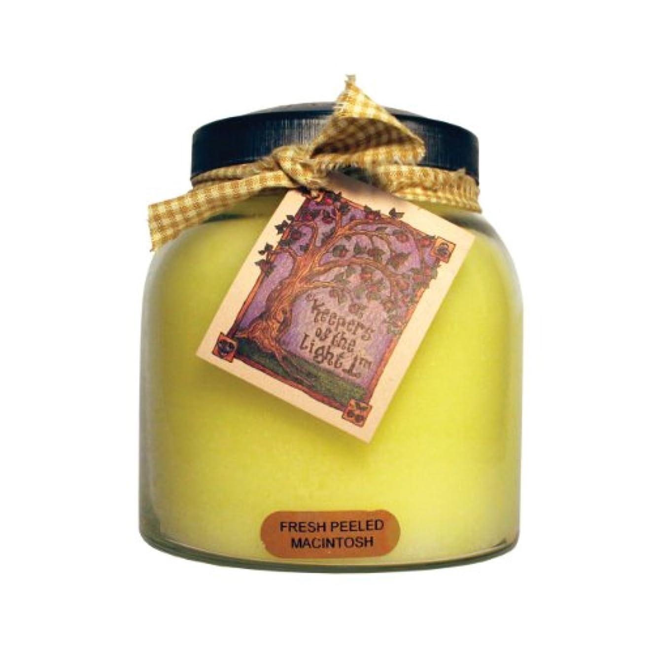 ヶ月目食い違いチチカカ湖A Cheerful Giver Fresh Peeled Macintosh Baby Jar Candle 34oz JP57