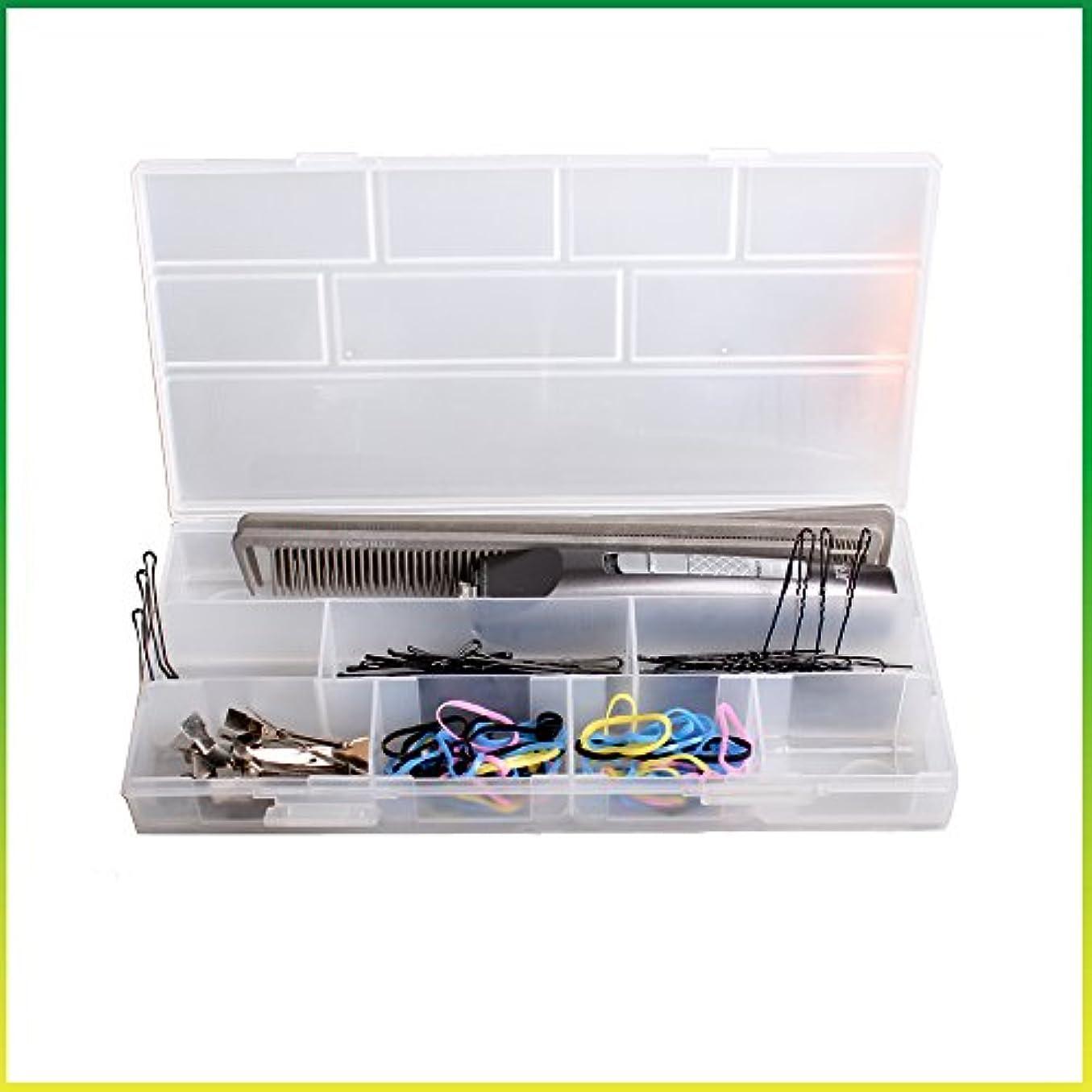 変装したトランクライブラリルーチンヘアピン ケース ノンスリップ コスメボックス メイクボックス メークボックス メイクケース メークケース ツールボックス ツールケース (ホワイト)