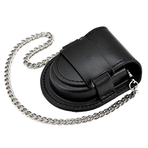 【ノーブランド 品】ポケット アンティーク ブロンズ チェーン ウォッチバッグ ケース ポーチ 財布 ホルダー ブラック