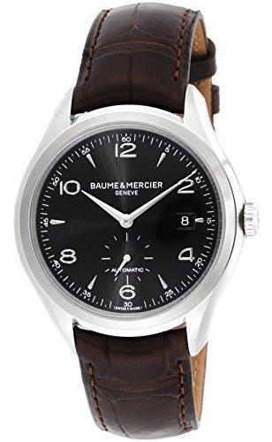 [ボーム&メルシエ]BAUME & MERCIER 腕時計 クリフトン ブラック文字盤 自動巻 アリゲーター革 裏蓋スケルトン MOA10053 メンズ 【並行輸入品】