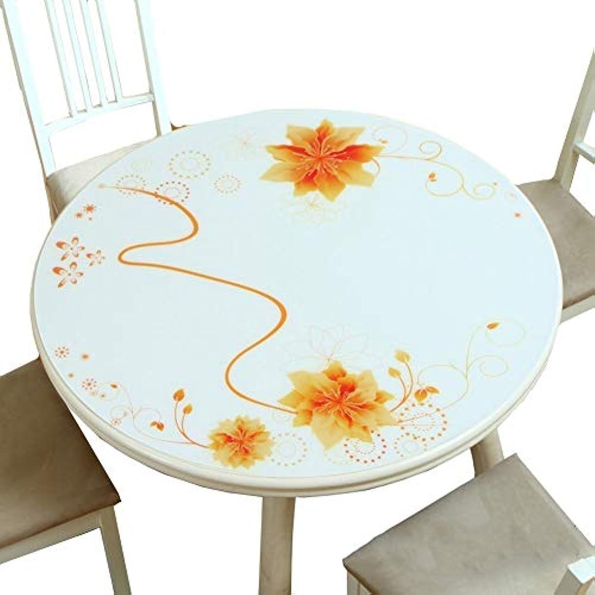 知覚的自分後者クリスマス PCV テーブル クロス PVCプラスチックテーブルクロスラウンドホーム熱湯消毒証明オイルシール表パッド (Size : 60CM)