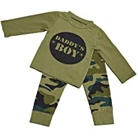 6da799bb0b52 Willow Dance Baby Daddy s Boy Girls Family Matching Clothes Set Camouflage  T-Shirt Tops+