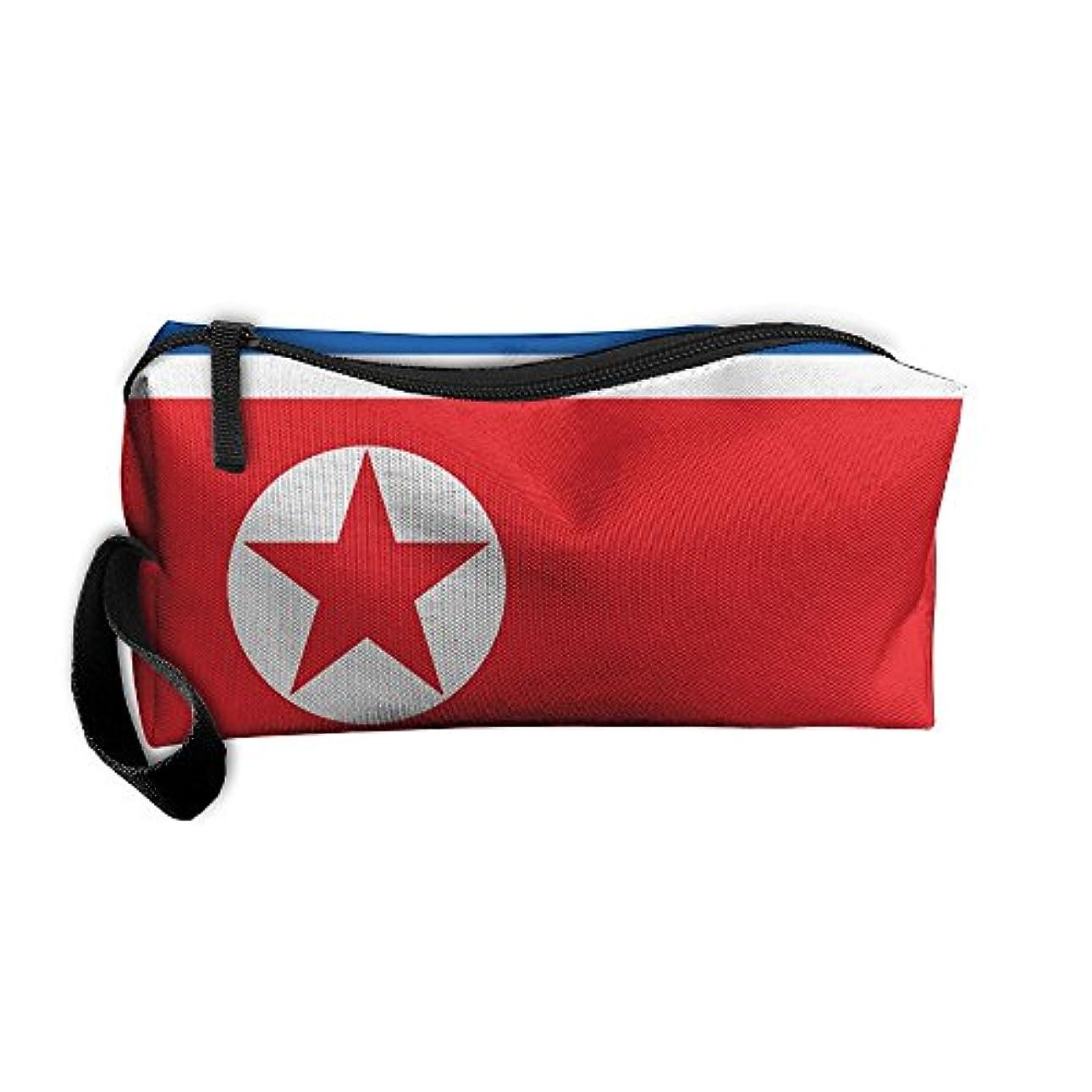 宗教食用ブッシュ北朝鮮の国旗 化粧ポーチ 収納ポーチ コスメポーチ ペンケース ペンポーチ 小物入れ トラベルポーチ 軽量 防水 携帯用