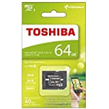 TOSHIBA microSDXCカード 64GB Class10 UHS-I対応 (最大転送速度40MB/s) MSDAR40N64G