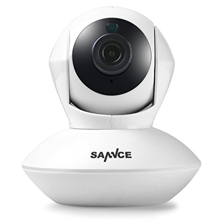 SANNCE(センス) IPカメラ 720Pネットワークカメラ 防犯監視カメラ 看護 無線 ワイヤレスカメラ wifi 100万画素 動体検知 夜間監視 日本語アプリ