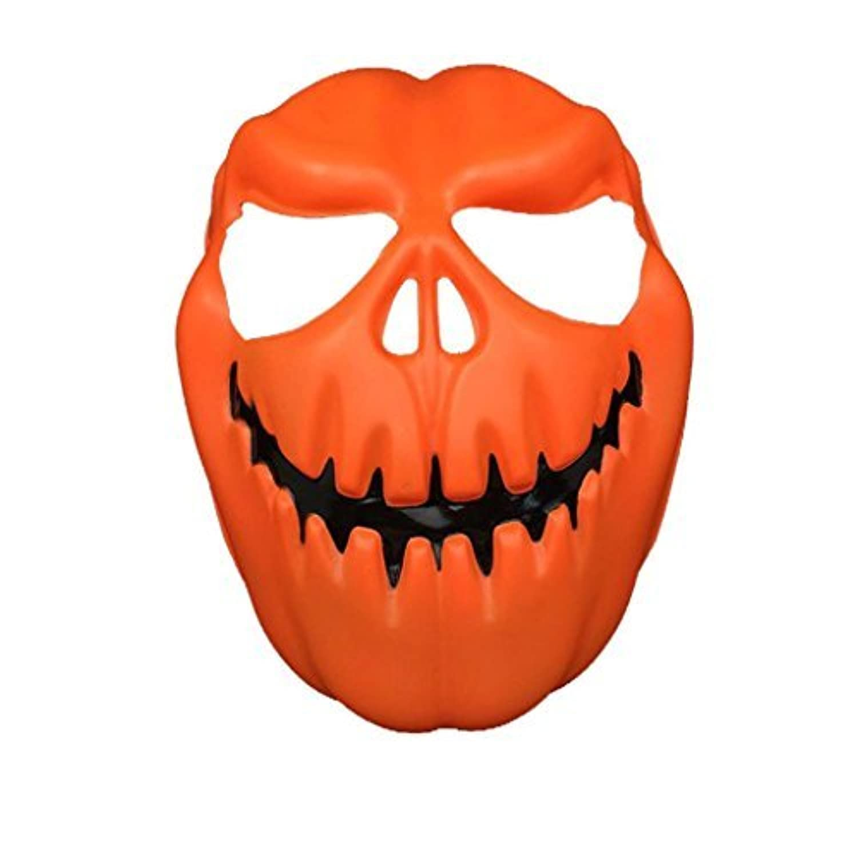 Halloween MaskSMTSMT Pumpkin Head Halloween Mask - Orange [並行輸入品]