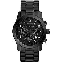Michael Kors Men's Runway Black Gunmetal-Tone Watch MK8157