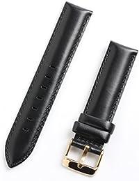 お持ちの時計をお洒落にカスタマイズ♪ ダニエル対応 高品質 替えベルト レザーベルト ブラック ベルト幅18mm