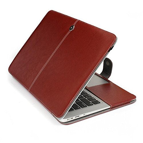 "Bpowe Apple Macbook Air 11インチ ケース PU レザー 薄型 防塵 耐摩擦 耐汚れ ファッション ブック型 ノートパソコン 収納 持ち運び ケース 生涯保障 (Air 11"" 11.6"", ブラウン)"