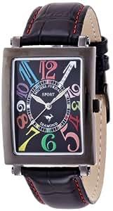 [ミッシェルジョルダン]michel Jurdain 腕時計 スポーツ ダイヤモンド レザー オールブラック メンズ SG3000-4 メンズ