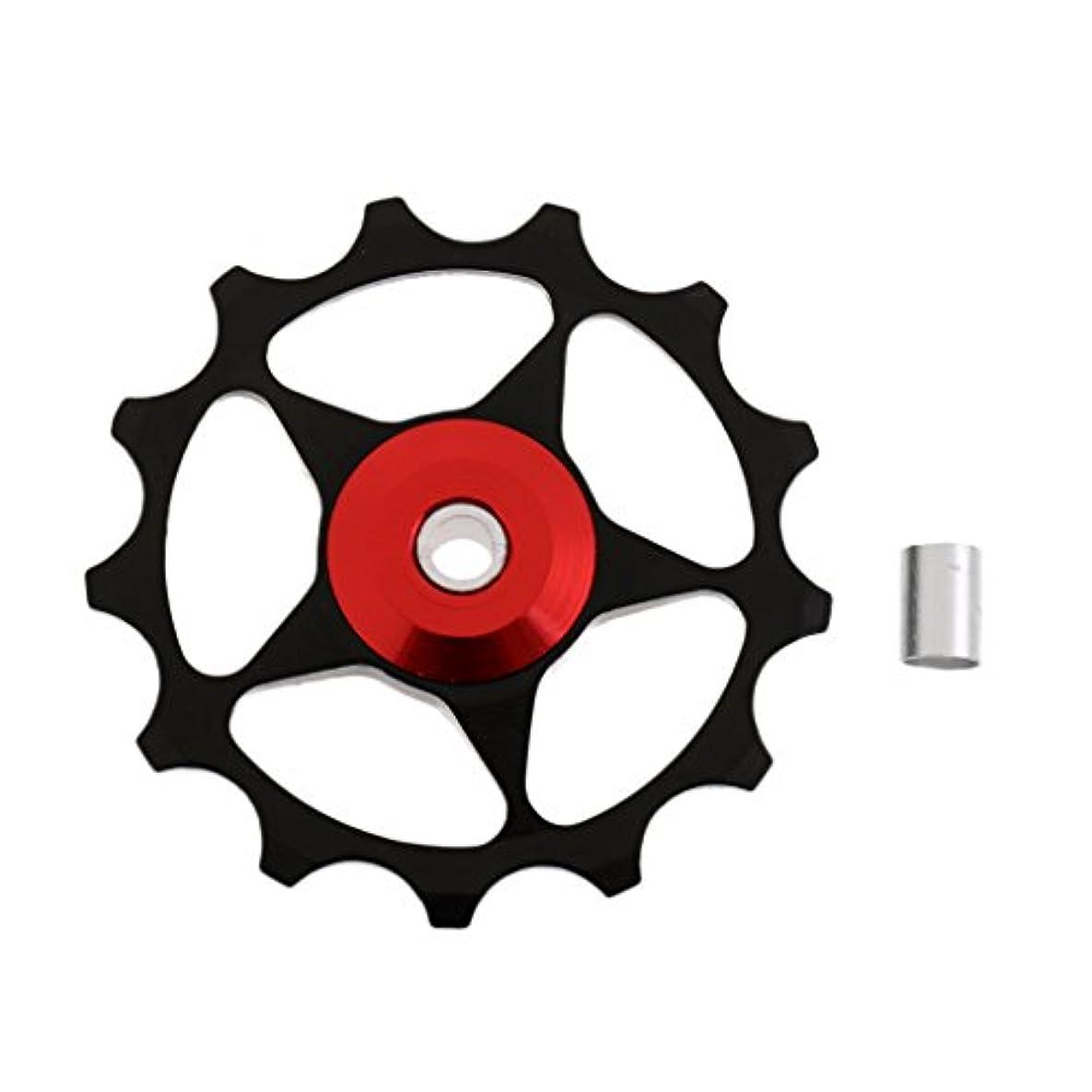 甘美なりデザイナーノーブランド品 13T  MTB  ベアリング  ジョッキー ホイール プーリー  ロードバイク 自転車  リアディレイラー 4色選べる  - ブラック, 5cm