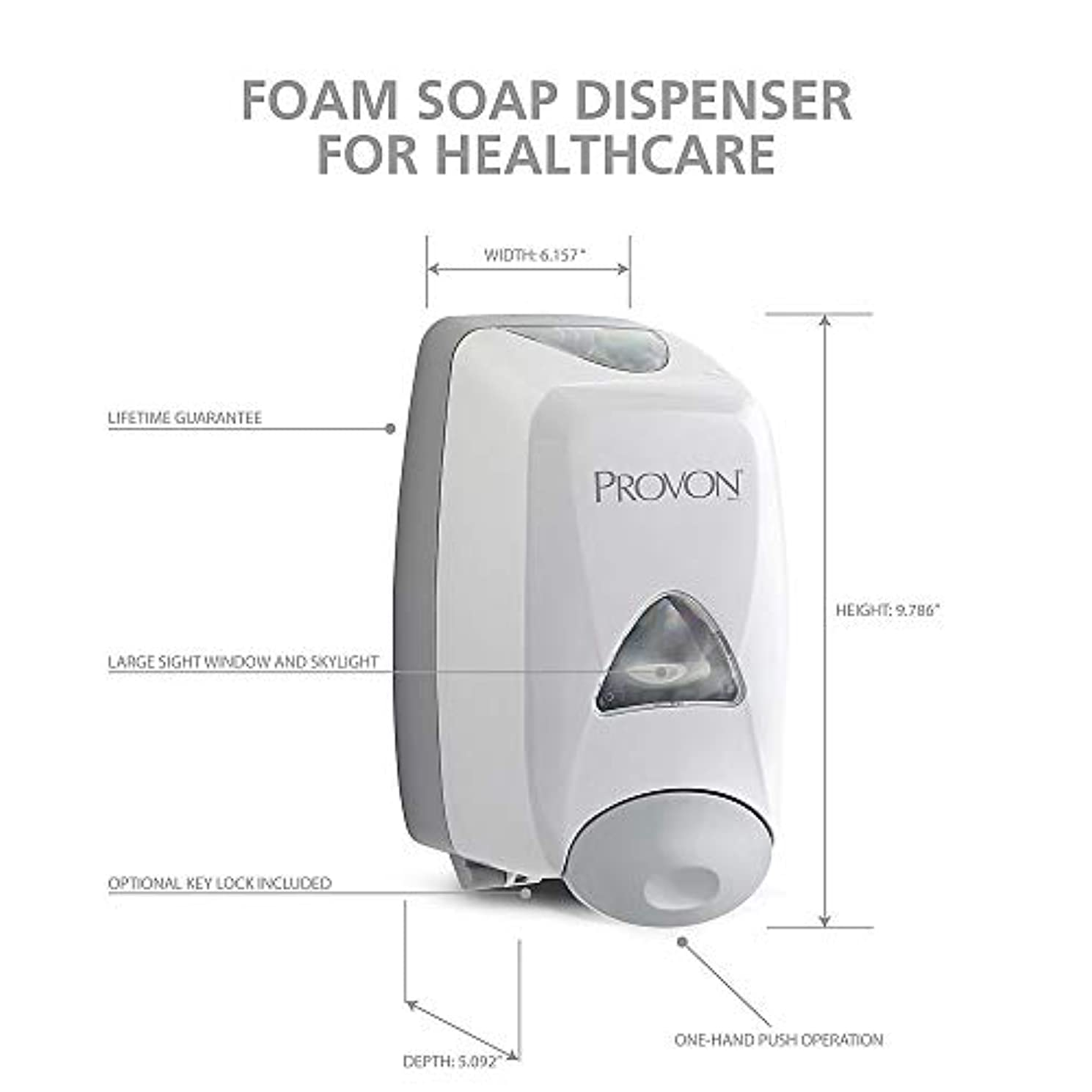 胃酸っぱいアイスクリームPROVON Foaming Handwash壁ディスペンサー、グレーgoj516006