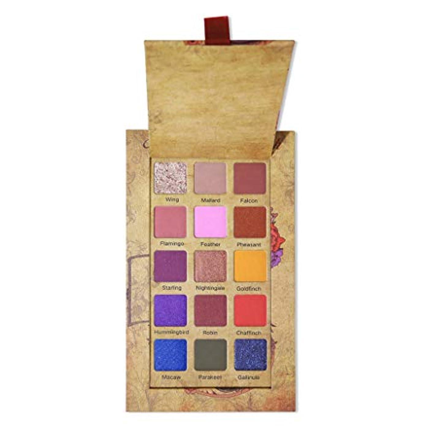 グッゲンハイム美術館道路エキスREWAGO 化粧アイシャドウパレット、高級15色きらめきグリッター防水メイクアップアイシャドウパウダーパレットシャイニングマットアイシャドウプレートアイ化粧品 (多色)