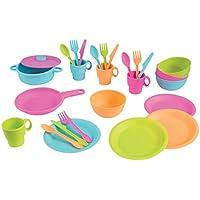KidKraft 27 Piece Cookware Play Set ,キッチン遊びセット、明るい
