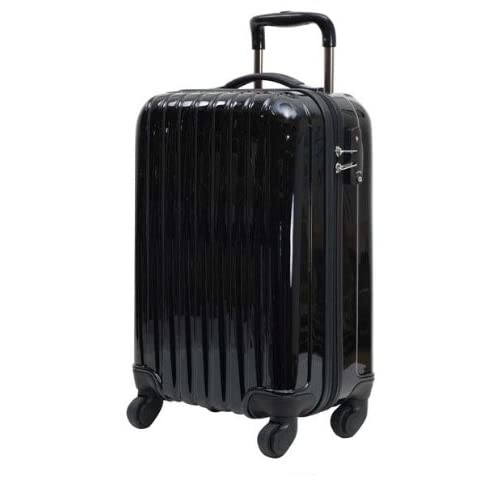 初心者さんにオススメのキャリーケース 61cm(4~5泊用) ブラック 黒 ☆拡張機能付き 軽量のファスナー開閉式キャリーバッグ