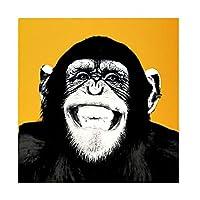 オランウータン装飾絵画、現代美術思考オランウータン動物の壁装飾キャンバスの絵画居間のホームインテリア,E,40x40cm