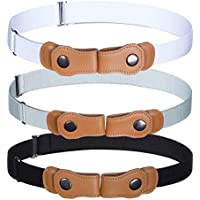 Boy No Buckle Invisible Belt - 3 Pack Child Girls Buckle Free Kids Belts
