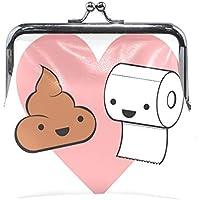 がま口 財布 口金 小銭入れ ポーチ 手紙 面白い 糞 Jiemeil バッグ かわいい 高級レザー レディース プレゼント ほど良いサイズ