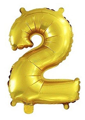 HOPIC 組み合わせ 自由 バルーン 風船 飾り付け イベント 装飾 [ 数字 ] ( ゴールド:2 )