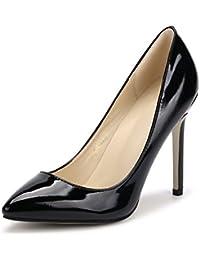 (リュアーヤ)RUAYE 11CMヒール レディース エナメル 美脚 パーティー クラブ 変装 おおきいサイズ ポインテッドトゥ パンプス ハイヒール ピンヒール 靴 high heels 22.5CM-27.5CM