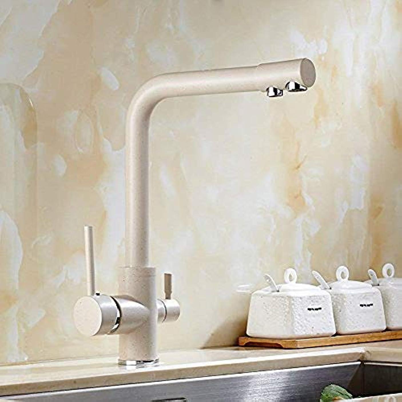 主流多数のクルーオーツクォーツ色回転冷たい水道銅キッチンシンク水道水コンディショナーを備えたキッチンをタップブラスキッチンバスルームシンクミキサータップ nyfcc
