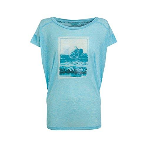 Jockey レディースTシャツ (X-Small, ウェーブメランジェ)