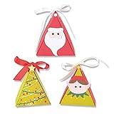 Sizzix Thinlits ダイセット 15個パック クリスマスキャラクターボックス Kath Breen 665338 マルチカラー