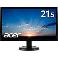 Acer モニター K222HQLEbmix (VA/非光沢/1920x1080/16:9/250cd/㎡/100,000,000:1/4ms/ブラック/ミニD-Sub15ピン・HDMI)