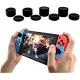 8 Pieces Silicone Thumb Stick Grip Joystick Cap Cover Compatible with Nintendo Switch Joy-Con