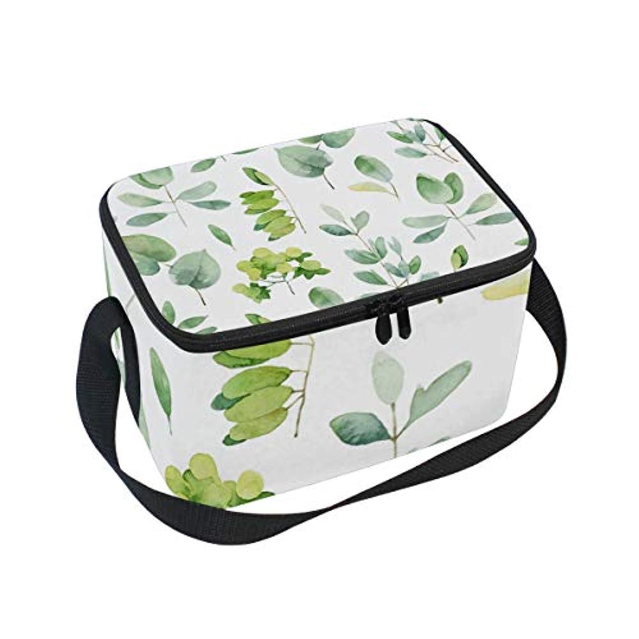 品種再開測定クーラーバッグ クーラーボックス ソフトクーラ 冷蔵ボックス キャンプ用品  ハーブの葉柄 水彩画 保冷保温 大容量 肩掛け お花見 アウトドア