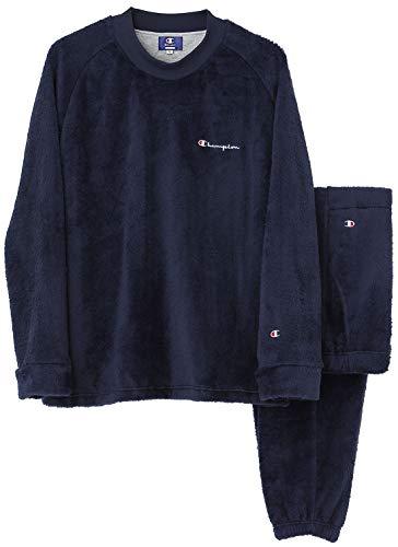 [チャンピオン] ルームウェア 長袖長パンツ ボア OM8609 メンズ ネービーブルー 日本 L (日本サイズL相当)