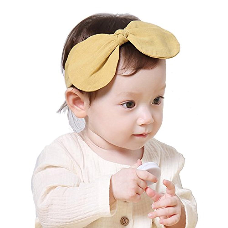 Domybest ベビー ヘアバンド リボン キッズ 子供 カチューシャ 髪飾り ヘアアクセサリー 女の子 新生児 赤ちゃん 出産祝い 内祝い お宮参り 誕生日 100日記念 こどもの日 記念撮影 初節句に