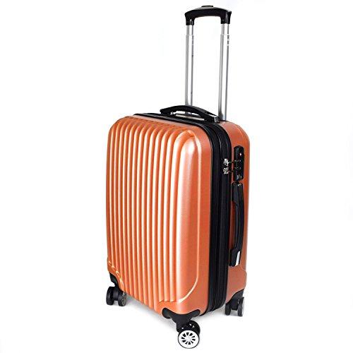 【神戸リベラル】 LIBERAL 軽量 S,M,Lサイズ スーツケース キャリーバッグ 容量アップ 8輪キャスター TSAロック付き (Sサイズ(1-3泊用 40/50L), インカゴールド)