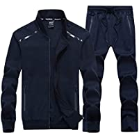 Unparalleled beauty Men's All-Round Champion Leisure Sports Sweat Suit Full Zip Tracksuit Set