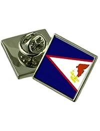 アメリカ領サモアの旗ラペルピンバッジ 18 mm ギフトポーチを選択します
