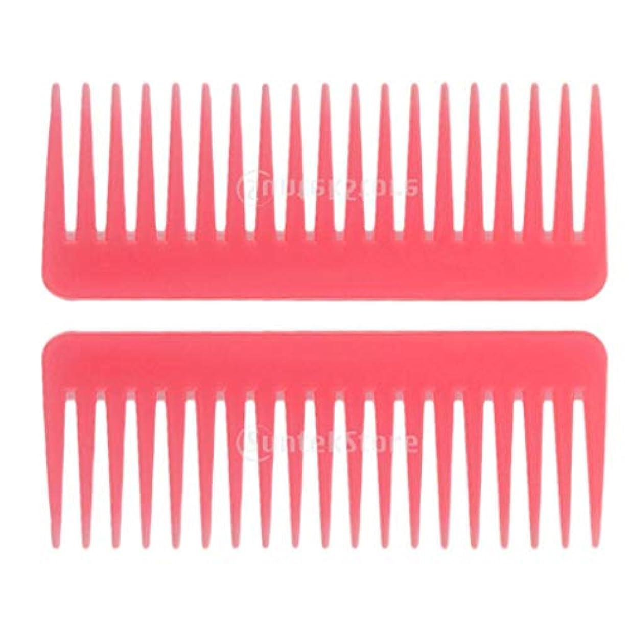 付属品アルファベットインストラクターヘアブラシ ヘアコーム 静電気防止櫛 広い歯コーム マッサージ サロン 理髪店 ツール 2個セット