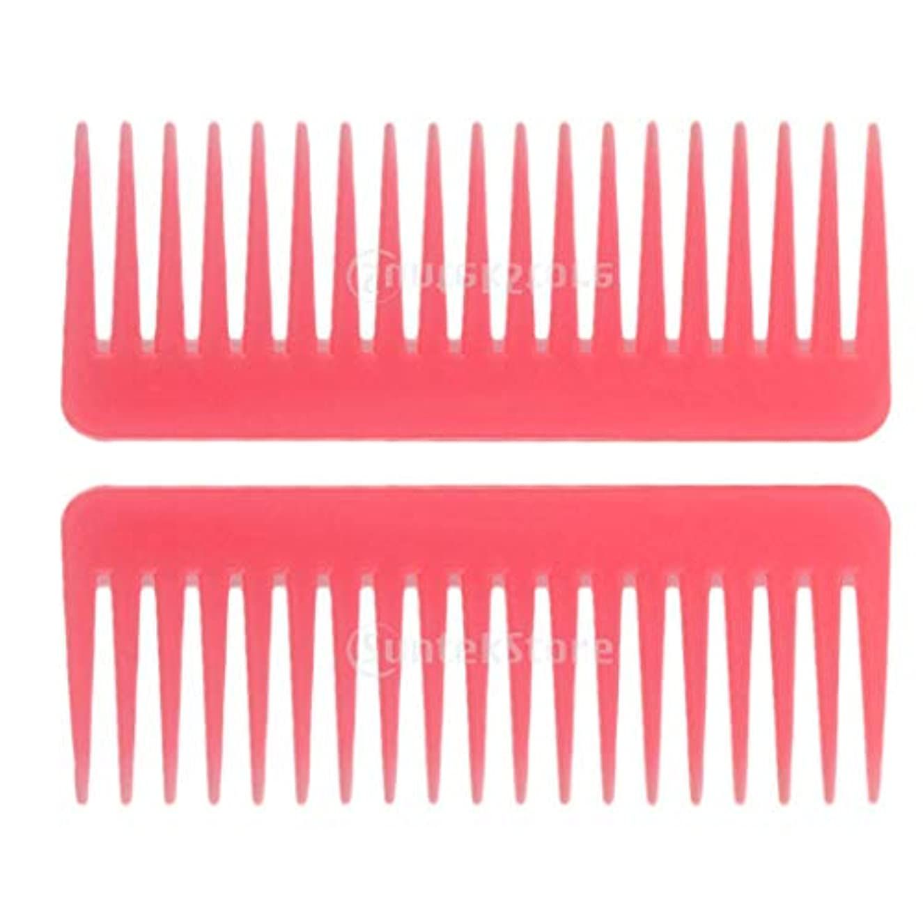 右ウォルターカニンガム問い合わせるSM SunniMix ヘアブラシ ヘアコーム 静電気防止櫛 広い歯コーム マッサージ サロン 理髪店 ツール 2個セット