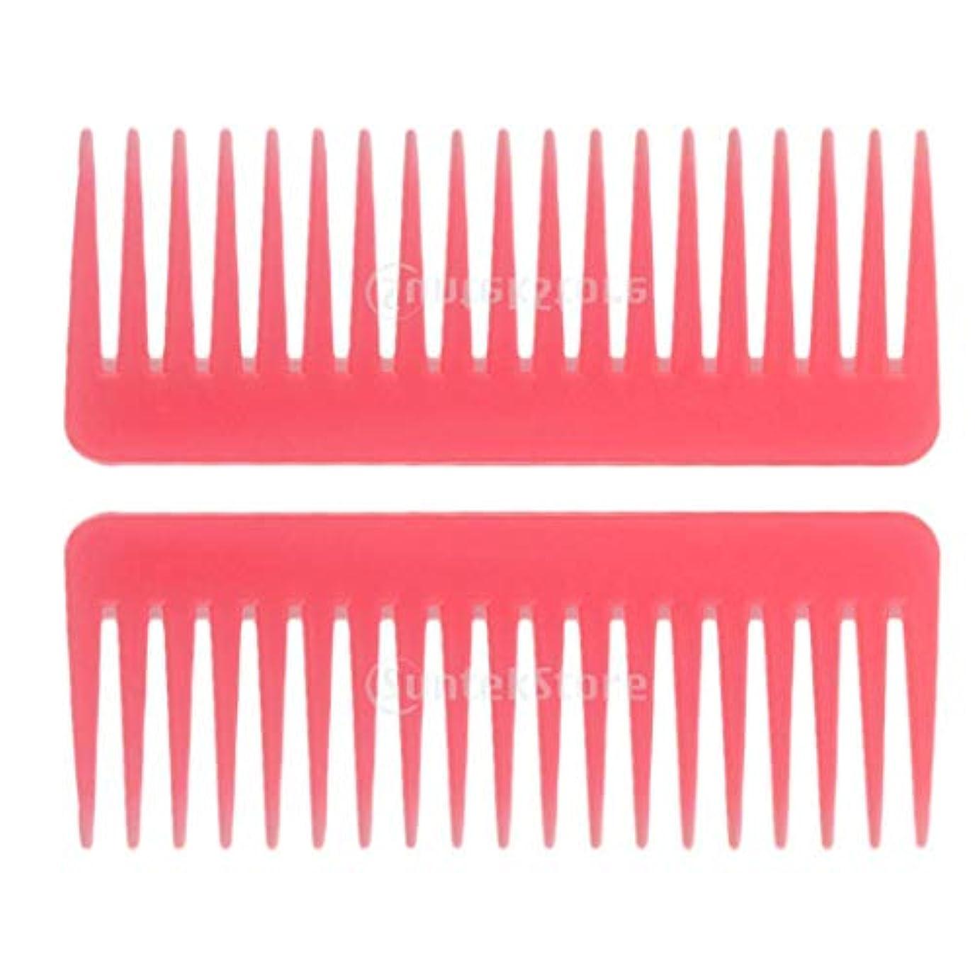 何か防腐剤嬉しいですヘアブラシ ヘアコーム 静電気防止櫛 広い歯コーム マッサージ サロン 理髪店 ツール 2個セット