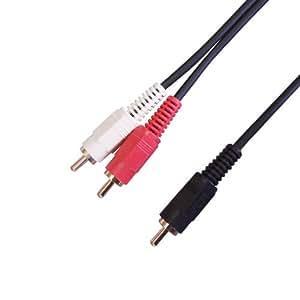 フジパーツ オーディオケーブル 1ピン-2ピン 1.5m FVC-326