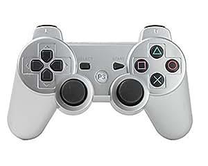 【ラークデジタル】PS3用 ワイヤレスコントローラ 互換 コード付 アイスシルバー [video game]
