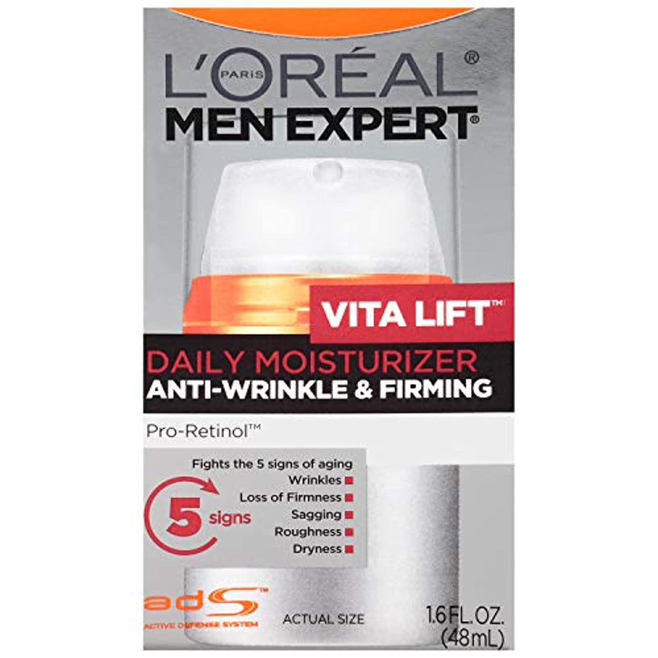 ハム現実には歪めるMen's Expert L'Oreal Paris Vita Lift Anti-Wrinkle & Firming Moisturizer, 1.6 Ounces