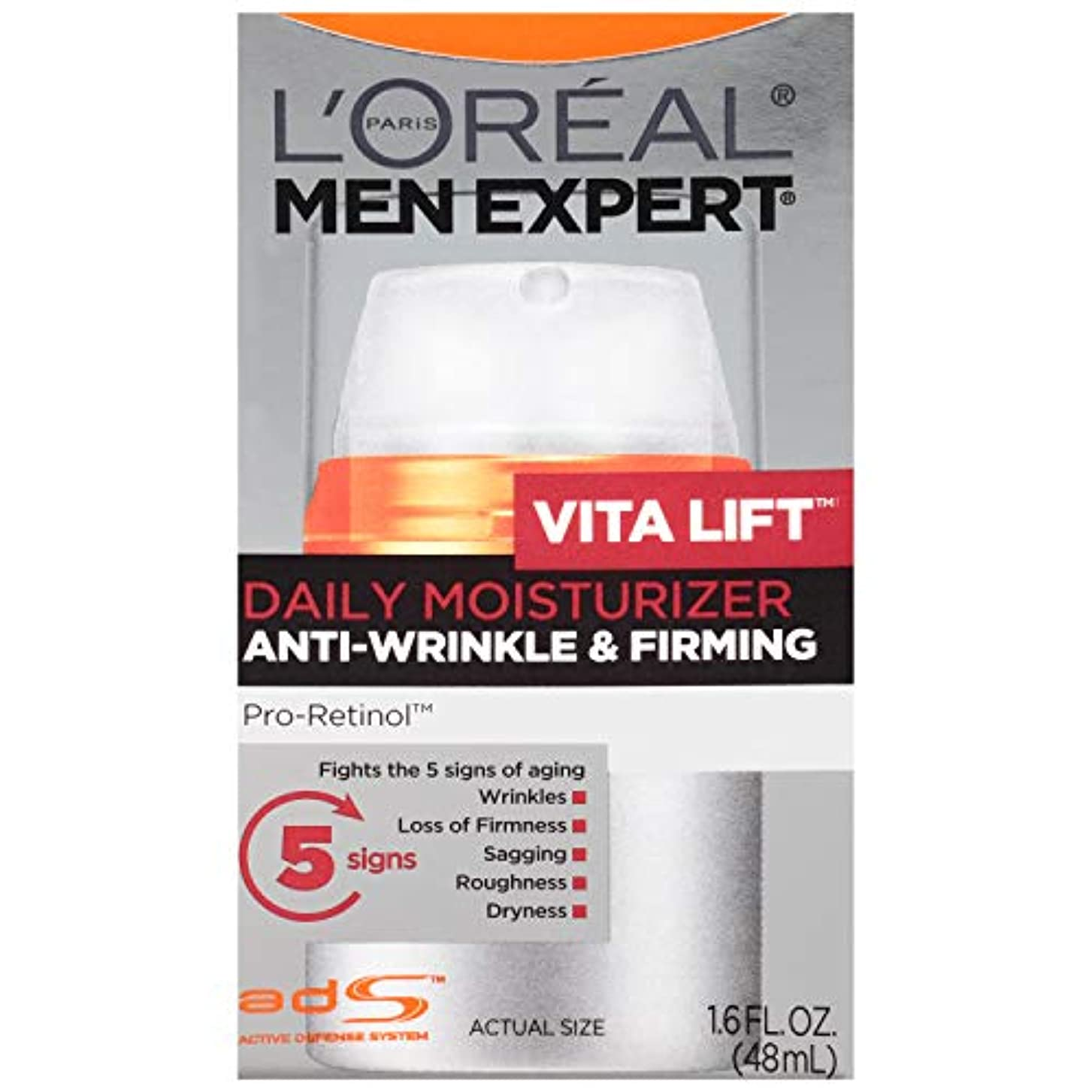 なくなる仲間、同僚そのMen's Expert L'Oreal Paris Vita Lift Anti-Wrinkle & Firming Moisturizer, 1.6 Ounces